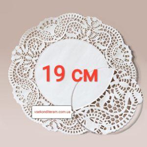 салфетка бумажная ажурная 19 см