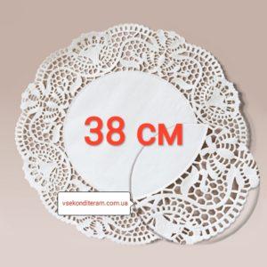 салфетка бумажная ажурная 38 см