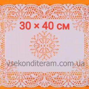 Ажурные салфетки бумажные 40*30 см