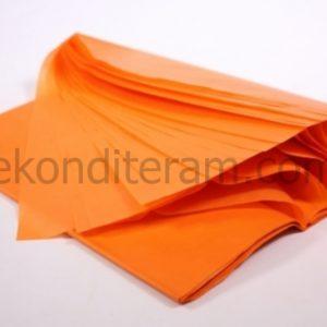 оранжевая бумага для упаковки, тишью