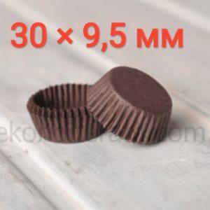 капсулы для конфет коричневые