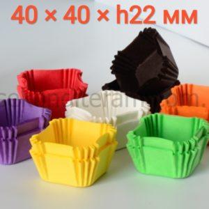 капсулы для конфет квадратные
