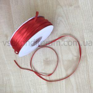 лента атласная 3мм красная