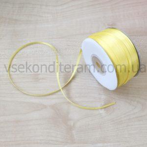 лента атласная 3 мм желтая