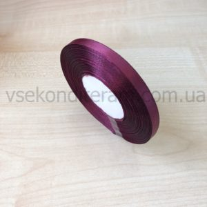 лента атласная 0,6 см вишневая