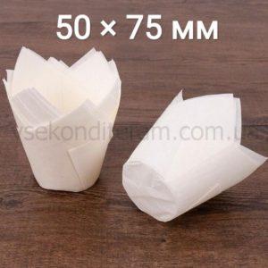 бумажная форма для выпечки маффинов белый тюльпан