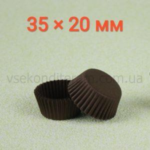 капсулы, тарталетки для конфет коричневые