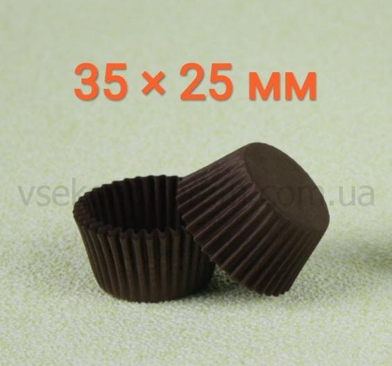 капсулы бумажные для конфет 35х25 мм