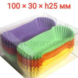 бумажные подложки под эклеры разноцветные