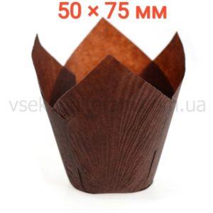 тюльпан для выпечки маффинов коричневый