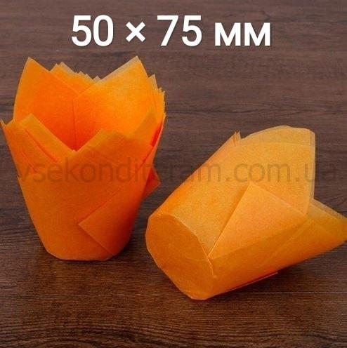 тюльпан для выпечки маффинов оранжевый