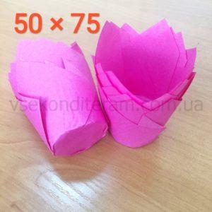 тюльпан для выпечки маффинов розовые