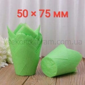 тюльпан для выпечки маффинов зеленый