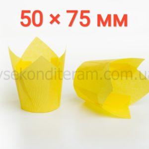 тюльпан для выпечки маффинов желтый