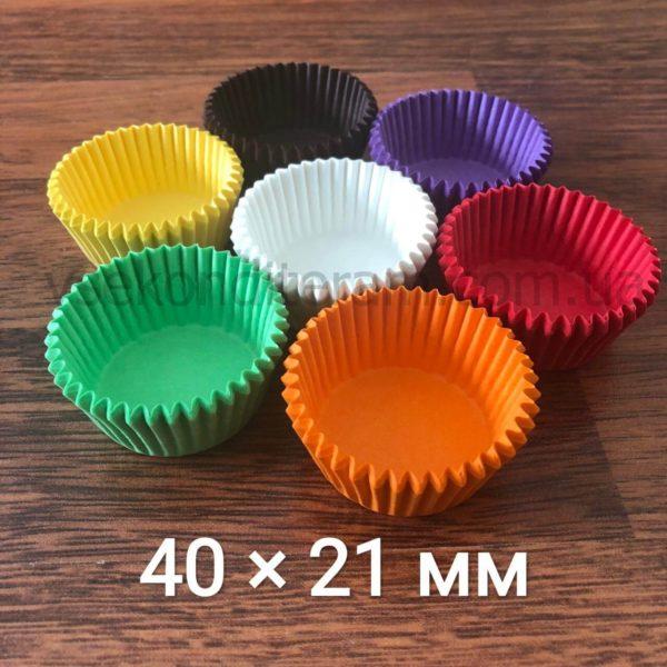 бумажные тарталетки для выпечки кексов 40х21 мм