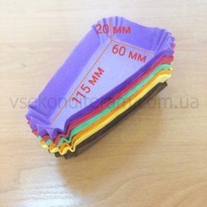 салфетки треугольные для кусочка тортика разноцветные