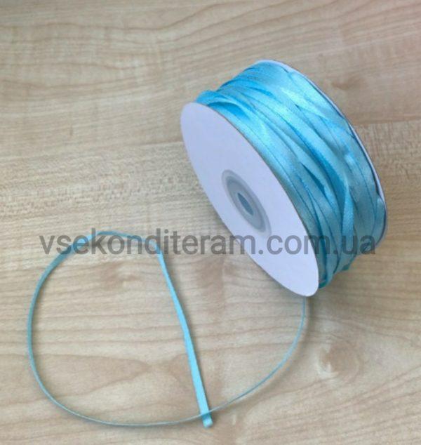лента атласная 0,3 см голубая