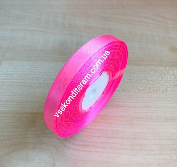 лента атласная 1 см розовая