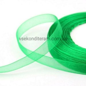 лента органза зеленая
