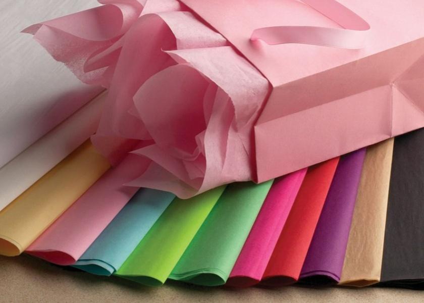 Тишью для упаковки подарков лен черный ткань купить в