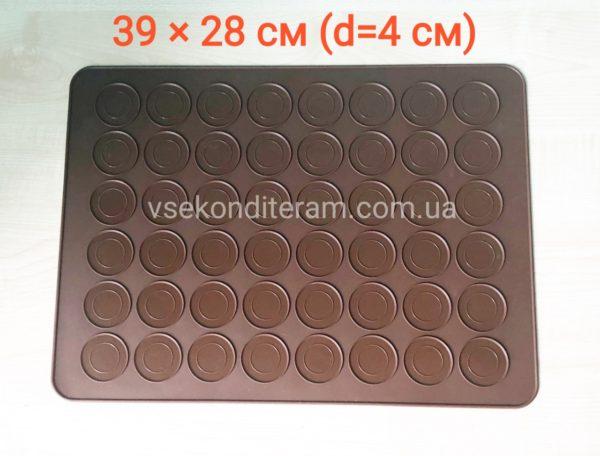 силиконовый коврик для макаронс 39х28 см