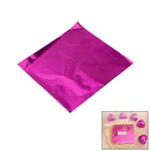 фольга дял конфет розовая