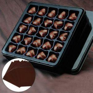 фольга для конфет коричневая