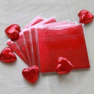 фольга для конфет красная