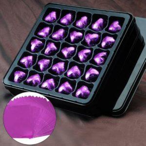 фольга для конфет малиновая